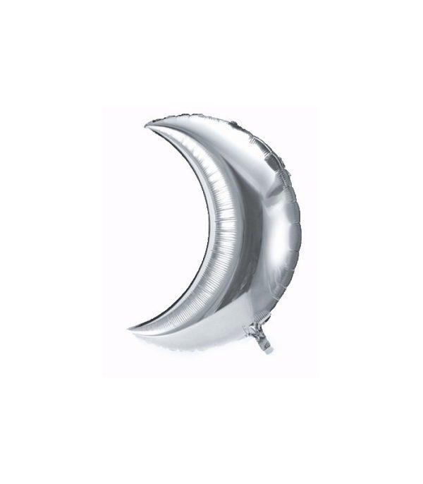 Ballon Maan Zilver - Groot