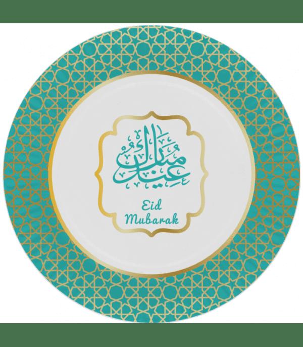 Bord Eid Mubarak Goud/Groen (6 stuks)