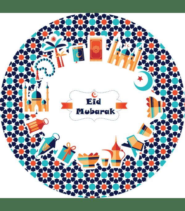 Eid Mubarak borden feestelijk - 6 stuks